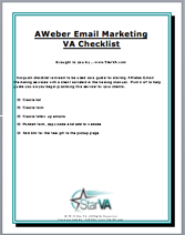 AWeber Email Marketing VA Checklist