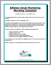 AWeber Email Marketing Wording Template