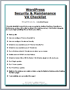 WordPress Security and Maintenance Checklist