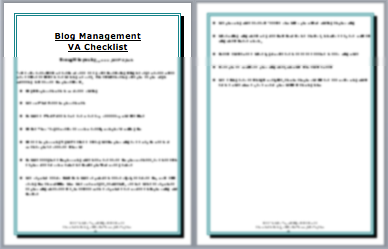 Blog Management Checklist