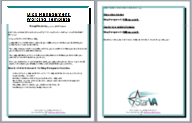 Blog Management Wording Template